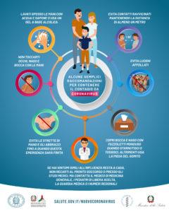 locandina misure anti coronavirus dal Ministero della Salute