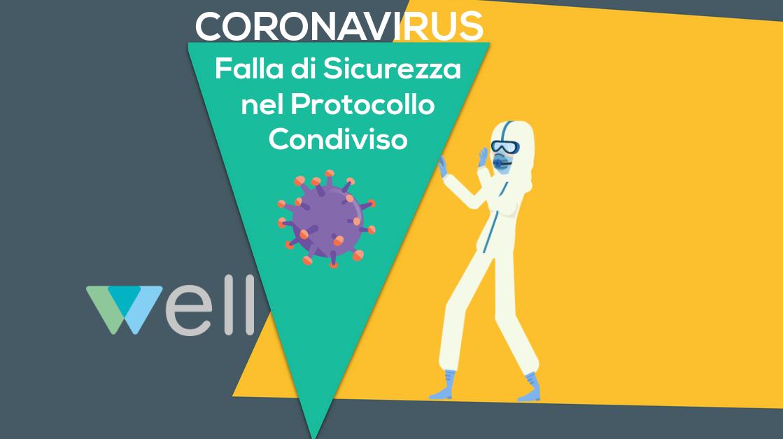 Falla di sicurezza protocollo condiviso coronavirus covid-19 well www.coopwell.it