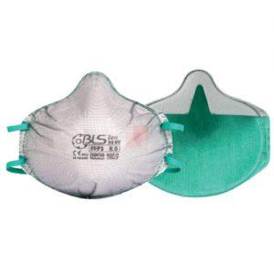 Mascherina FFP3 senza valvola, vista esterna ed interna